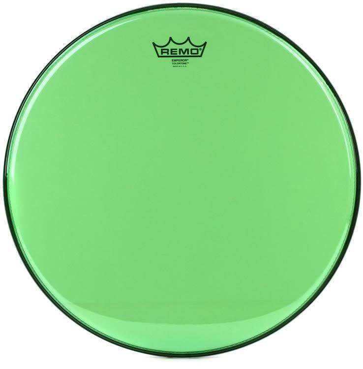 """Remo Remo 10"""" Emperor Clear Colortone, Green"""