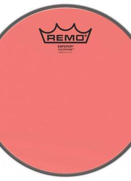 """Remo Remo 10"""" Emperor Clear Colortone, Red"""
