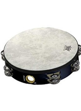 """Remo Remo 8"""" Pre-Tuned tambourine, Double row Jingles"""