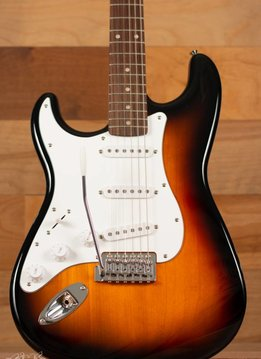 Squier Squier Affinity Series™ Stratocaster®, Left-Handed, Rosewood Fingerboard, Brown Sunburst