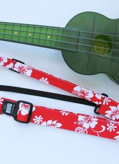 The Hug Strap All in One Hug Strap - White Hibiscus on Red