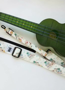 The Hug Strap All in One Hug Strap - Llamas Playing Ukulele