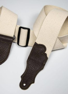 "Franklin 2"" Cotton Strap, Natural/Chocolate"