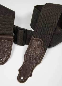 "Franklin 2"" Cotton Strap, Chocolate/Chocolate"