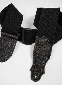"Franklin 2"" Cotton strap, Black/Black"