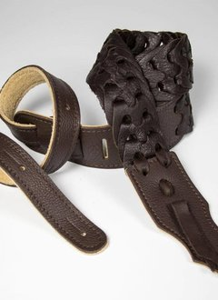 "Franklin 2"" Leather Link Strap, Chocolate"