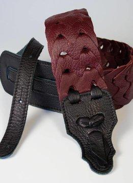 """Franklin 3"""" Leather Link Strap, Burgundy"""