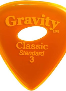 Gravity Pick Classic Std 3.0 Polished Ellipse Hole