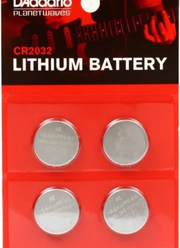 Planet Waves Planet Waves CR2032 Lithium Battery, 4-pack