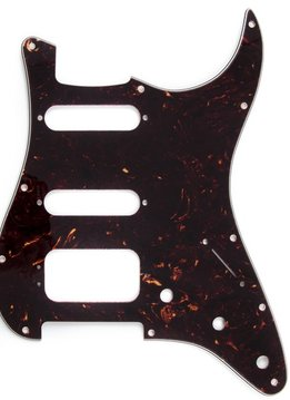 Fender Fender Pickguard, Stratocaster® H/S/S (3-Screw Mount HB), 11-Hole Mount, Brown Shell, 4-Ply