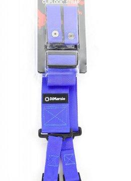 DiMarzio Cliplock Strap, Blue
