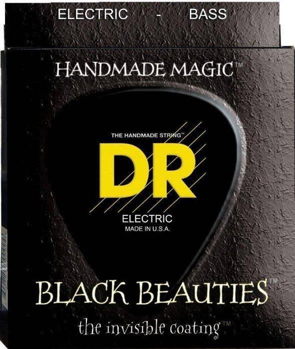 DR DR BKB-45 Black Beauties 4-String Bass Set, 45-105