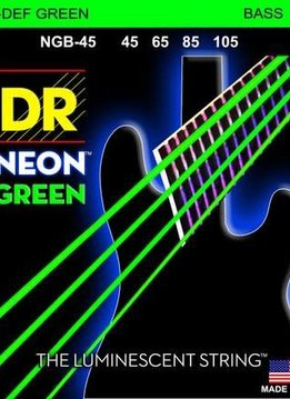DR DR NGB-45 Neon Green Bass String Set, 45-105