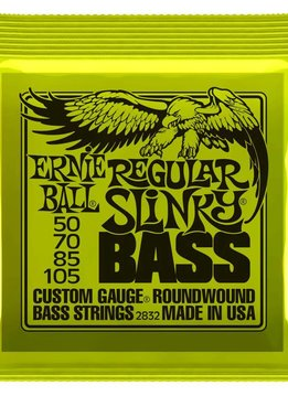Ernie Ball Ernie Ball 4 String Bass,  Nickel, Regular Slinky,  50-105