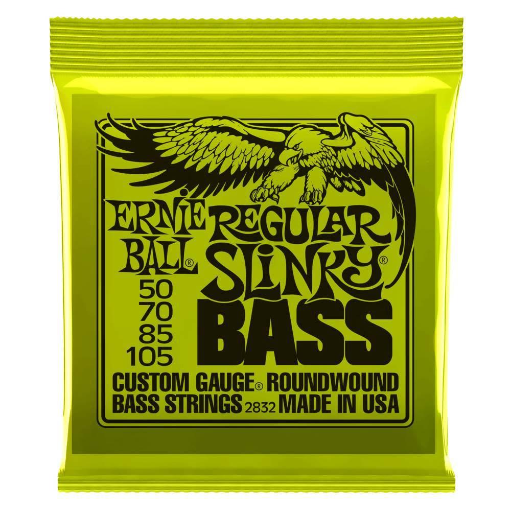 Ernie Ball Ernie Ball 4 String Bass,  Nickel, Regular Slinky,  50-105