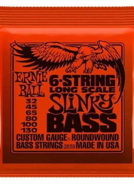Ernie Ball Ernie Ball Slinky, Nickel, 6 String Bass, Long Scale