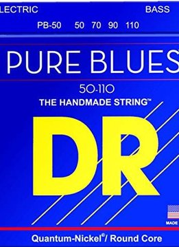 DR DR PB-50 Pure Blues 4-String Bass Set, 50-110