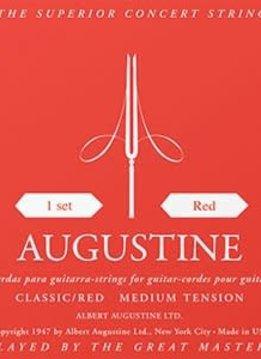 Augustine Red Classical String Set, Medium Tension