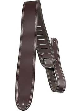 Perri's Double Stitched Leather Strap Brown