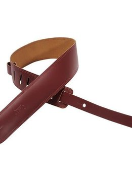 "Levy's Sims Music 2"" Leather Strap, Burgundy"
