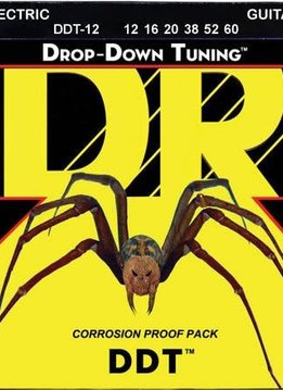 DR DR DDT-12 Drop-Down Tuning Electric String Set, 12-60