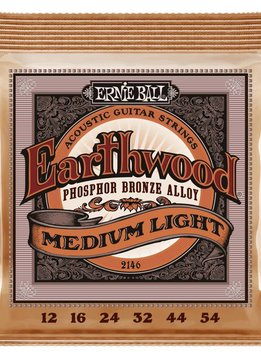 Ernie Ball Ernie Ball Earthwood Phosphor Bronze Acoustic Strings, Medium Light, 12-54