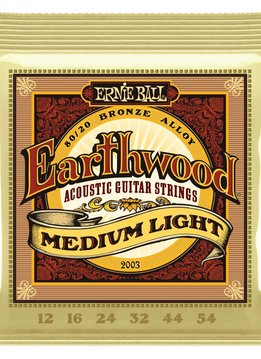 Ernie Ball Ernie Ball Earthwood Medium Light 80/20 Bronze Acoustic