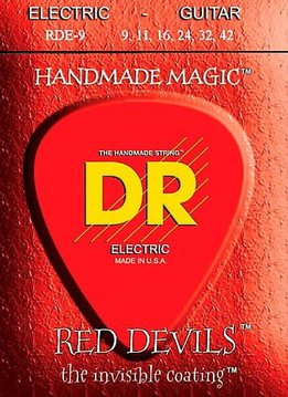 DR DR RDE-9 Red Devils Electric String Set, 9-42