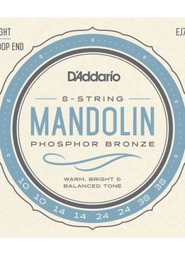 D'Addario D'Addario Set Mandolin Phosphor Bronze Light 10-38