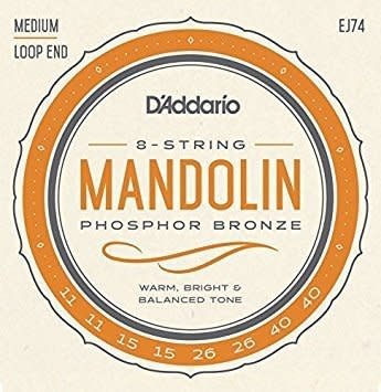 D'Addario D'Addario EJ74 Phosphor Bronze Loop End Mandolin Strings, 11-40