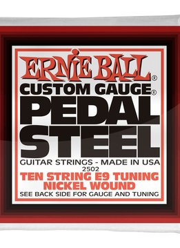 Ernie Ball Ernie Ball 2502 10-String E9 Pedal Steel String Set, Nickle 13-38