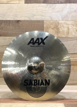 "Sabian Sabian 16"" AAX Studio Crash, Brilliant - Mint"