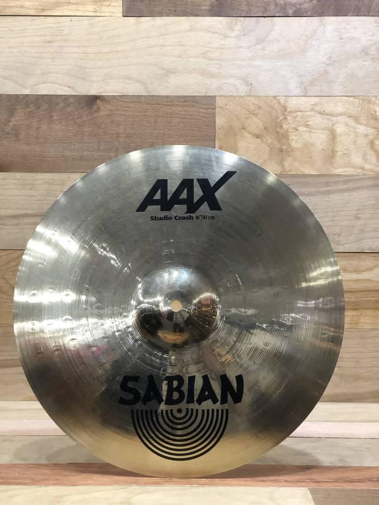 "Sabian Sabian 16"" AAX Studio Crash, Brilliant - Mint"