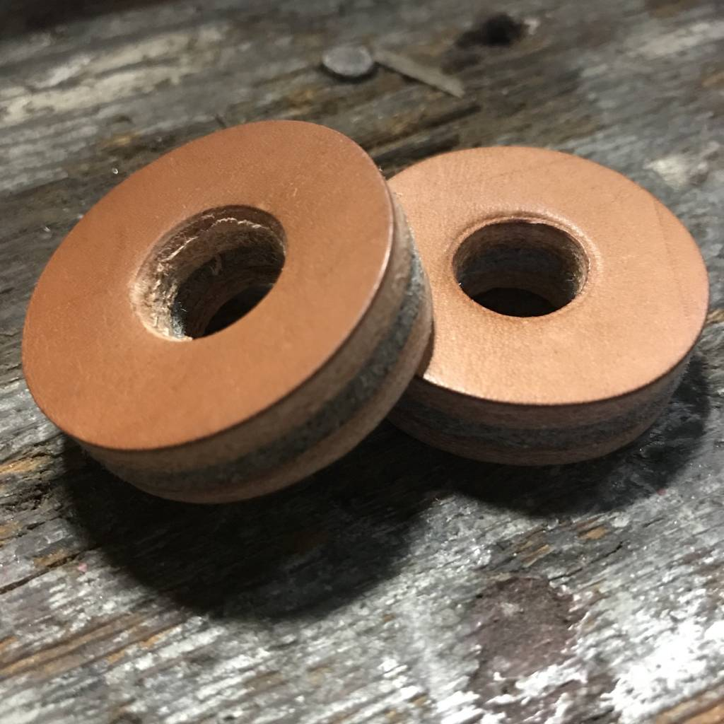 Tackle Instrument Supply Co Tackle Leather Cymbal Washers - Natural Leather