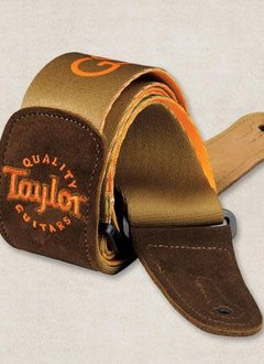 Taylor Taylor GS Mini Guitar Strap, Brown Suede/Brown