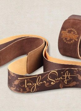 Taylor Taylor Taylor Swift Signature Guitar Strap, Brown