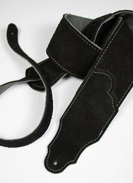 "Franklin 2"" Original Suede Strap, Black/Silver Stitching"