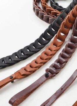 Franklin Mandolin Leather Link Strap, Black