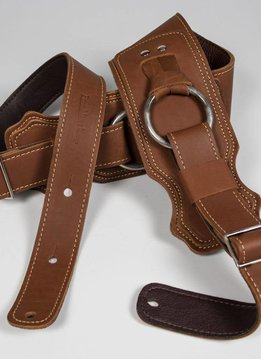 "Franklin 3.5"" Leather Bass Ring Strap, Cognac"