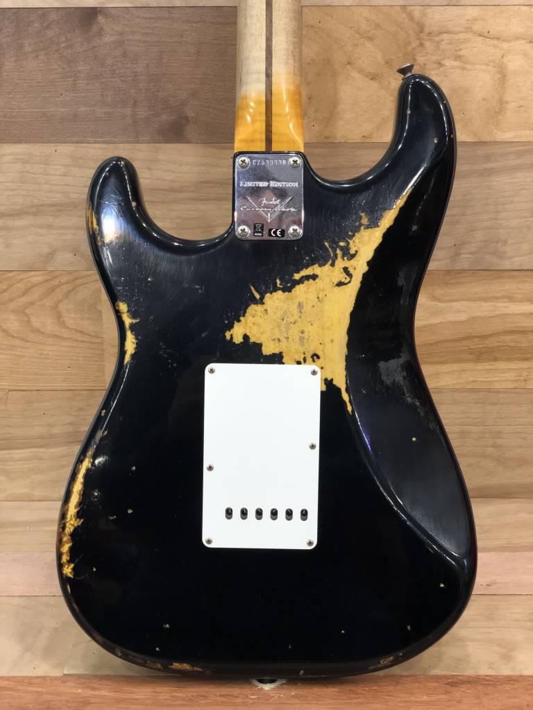 Fender Fender 2018 Custom Shop Heavy Relic '58 Stratocaster, Aged Black over 2-Tone Sunburst