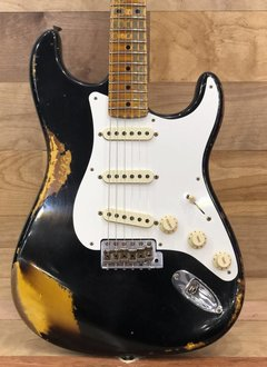 Fender Fender 2018 Custom Shop Heavy Relic '58 Stratocaster, Aged Black over 2-Tone Sunburst