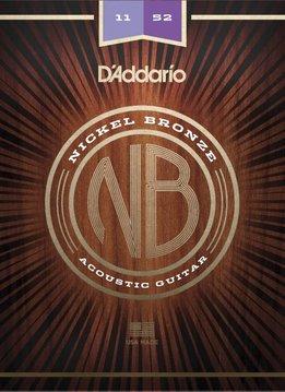 D'Addario D'Addario Nickel Bronze Acoustic - Custom Light (11-52)