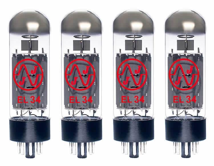 JJ Electronic EL34 Matched Quad