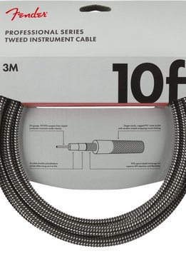 Fender Fender Professional Series Instrument Cables, 10', Gray Tweed