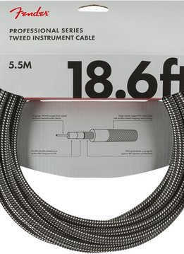 Fender Fender Professional Series Instrument Cable, 18.6', Gray Tweed