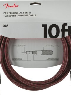 Fender Fender Professional Series Instrument Cables, 10', Red Tweed