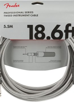 Fender Fender Professional Series Instrument Cable, 18.6', White Tweed