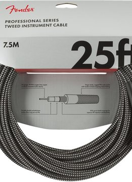 Fender Fender Professional Series Instrument Cable, 25', Gray Tweed