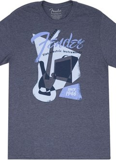 Fender Fender® Vintage Geo 1946 T-Shirt, Gray, XXL