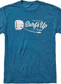 Fender Fender American Original Surf's Up T-Shirt, Teal, Small